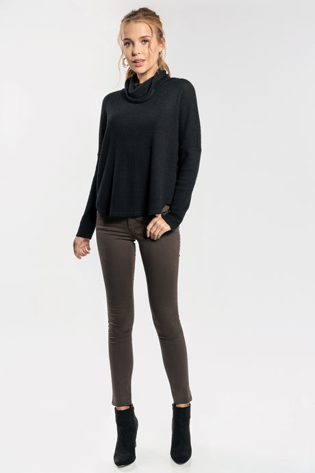 Black Cowl Neck Thermal