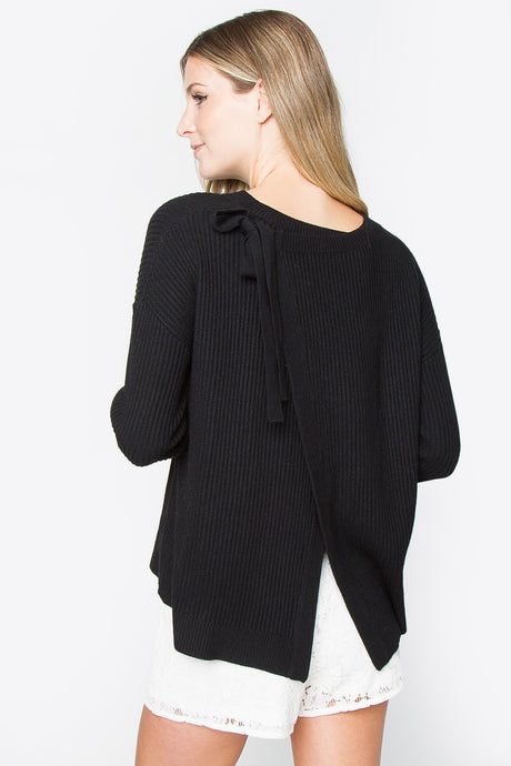 Back Ribbon Detail Sweater