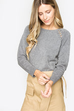 Load image into Gallery viewer, Arlow Lace Up Sweater