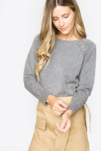 Arlow Lace Up Sweater