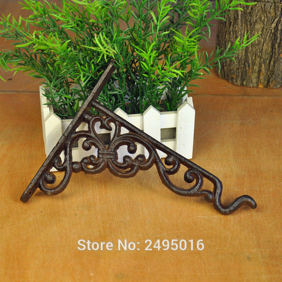 Wall Mounted Towel Robe Hooks Bracket Vintage Style Garden Flower Planter Lantern Hanging Basket Hanger Hook Home Door Docor