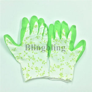 1Pair latex gloves durable rubber gloves