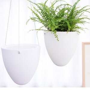 Mini White Lazy Flower Pot Plastic Home Decoration