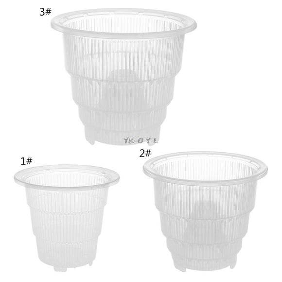 Mesh Clear plastic Orchid flower Planter Home Decoration