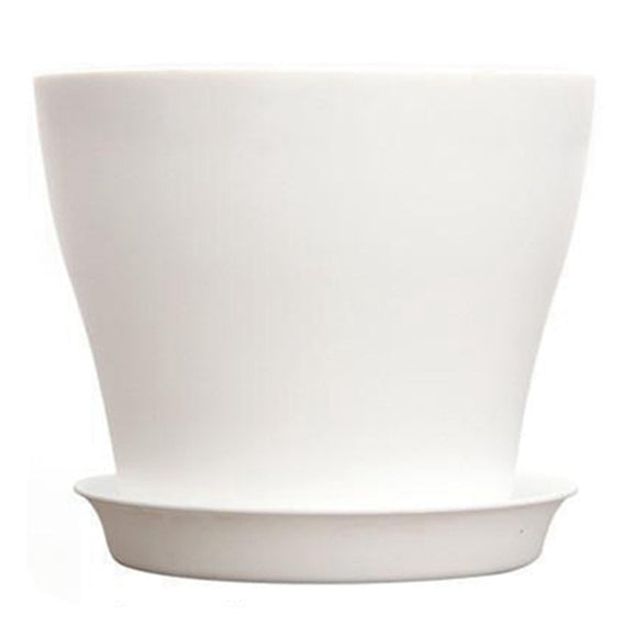 Plastic Flower Planter With round Saucer
