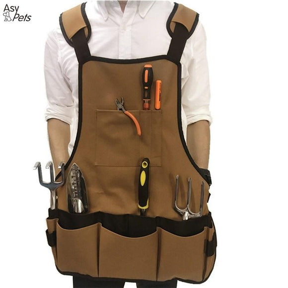 Multiple Pockets Garden Apron Garden Work Clothes Garden Tool Container-30