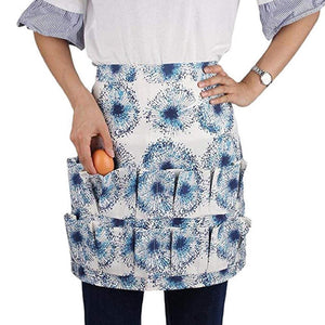 12 Pockets Aprons Home Garden Farmhouse Chicken Egg Collecting Harvest Polyester Cleaning Apron Carrier