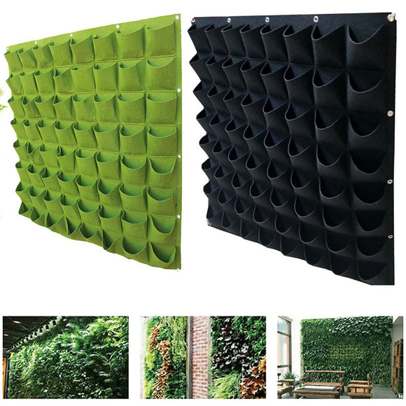 Green Vertical Grow Bag Creative Wall-mounted garden