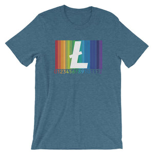 Be Proud Litecoin Unisex T-Shirt - Heather Deep Teal / S - T-Shirt