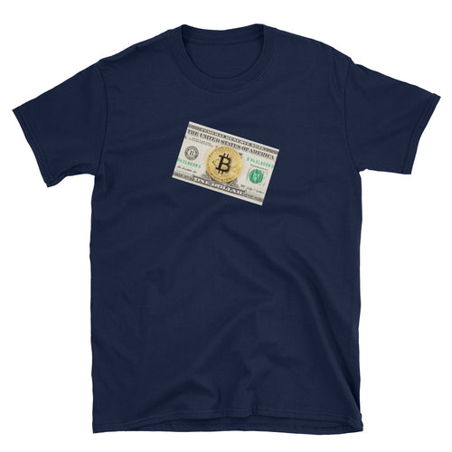 Dollar Out Bitcoin In Short-Sleeve Unisex T-Shirt