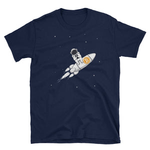 Bitcoin Rocket Ride Short-Sleeve Unisex T-Shirt