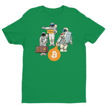 Load image into Gallery viewer, Bitcoin Astronaut Crew T-shirt