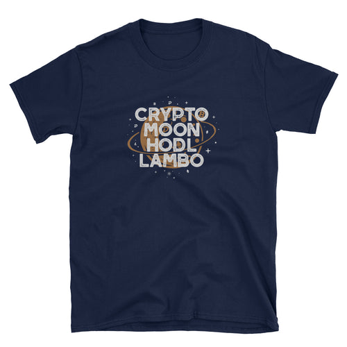 Crypto Moon HODL Lambo Short-Sleeve Unisex T-Shirt