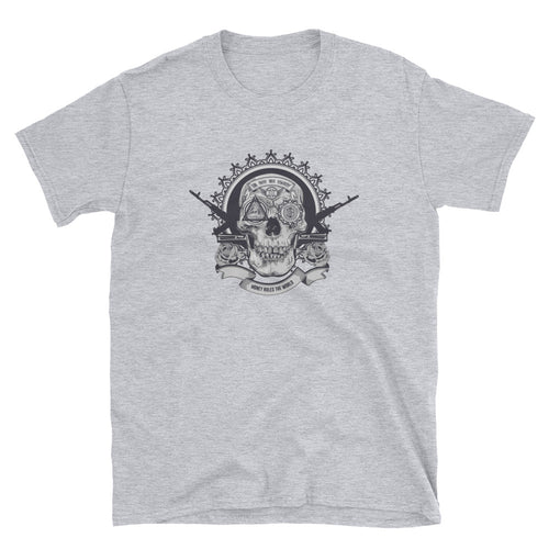 Crypto Illuminati Skull Short-Sleeve Unisex T-Shirt