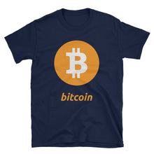 Load image into Gallery viewer, Classic Bitcoin an Logo Short-Sleeve Unisex T-Shirt