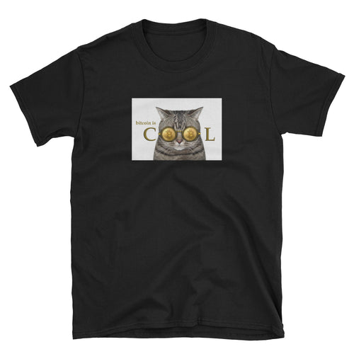 Bitcoin Cool Cat Short-Sleeve Unisex T-Shirt