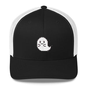 Pixel Cute Ghost Trucker Cap