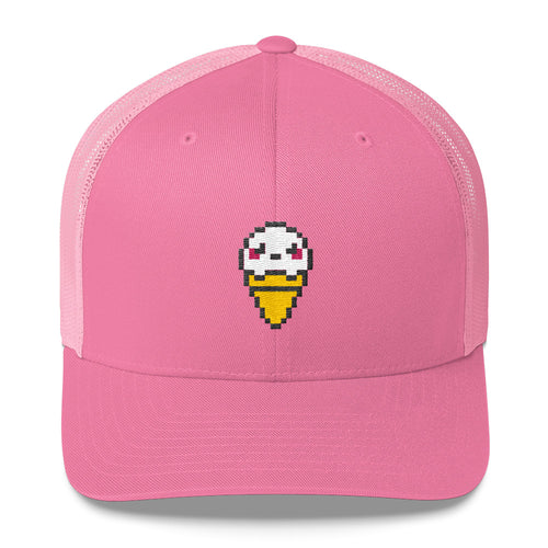 Pixel Ice Cream Trucker Cap