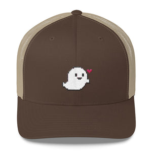 Pixel Love Cute Boo Trucker Cap