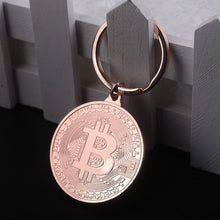 Load image into Gallery viewer, Rustic Bitcoin Keychain
