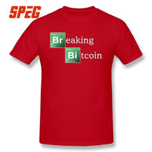 Load image into Gallery viewer, T-Shirts Men Breaking Bitcoin Cryptocurrency Blockchain 100% Cotton Novelty T Shirts Original Short Sleeves O Neck Tee