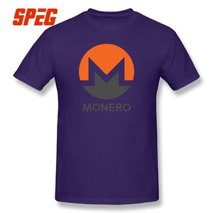 MONERO Crypto T-shirts Cryptocurrency Tee Movie Short Sleeve 5XL Round Collar T Shirts 100% Cotton Present Men's