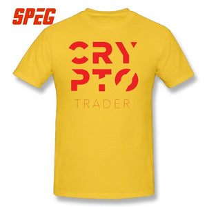 Crypto Trader Cryptocurrency T Shirt O-Neck Birthday Gifts 100% Cotton Graphic Mens T-Shirts Tees Short Sleeve