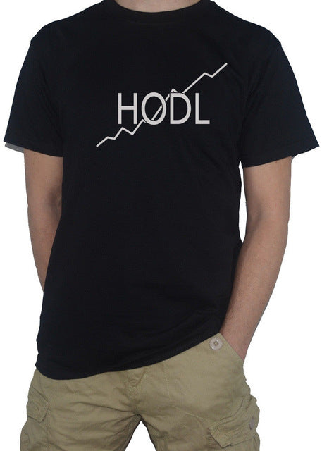 HODL - Cryptocurrency Ripple Bitcoin Litecoin Ethereum HOLD T-Shirt XRP BTC ETH