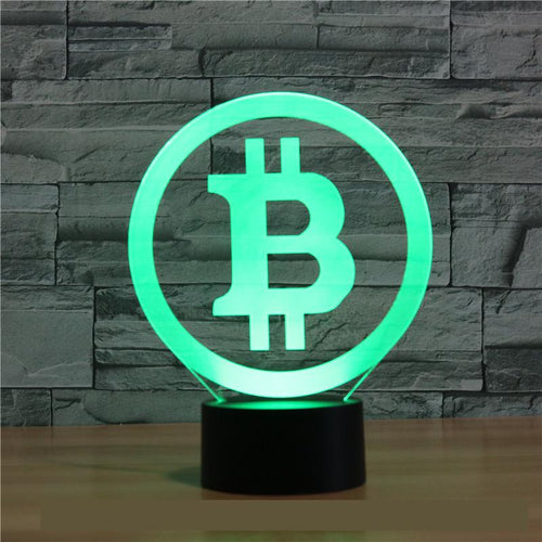 Bitcoin 3D Lamp Seven Color LED
