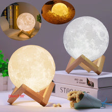 Load image into Gallery viewer, 3D USB LED Magical Moon Night Light Table Desk Moon Lamp Hom