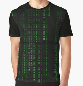 Cryptocurrency Matrix Tee
