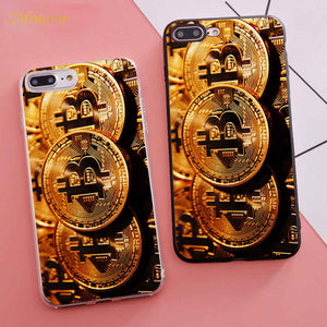 Minason Coque Bitcoin Fundas Capinha Phone Case for iPhone X 5S XR XS Max SE 6 S 6s 7 8 Plus Cover Silicone Capas Capinhas