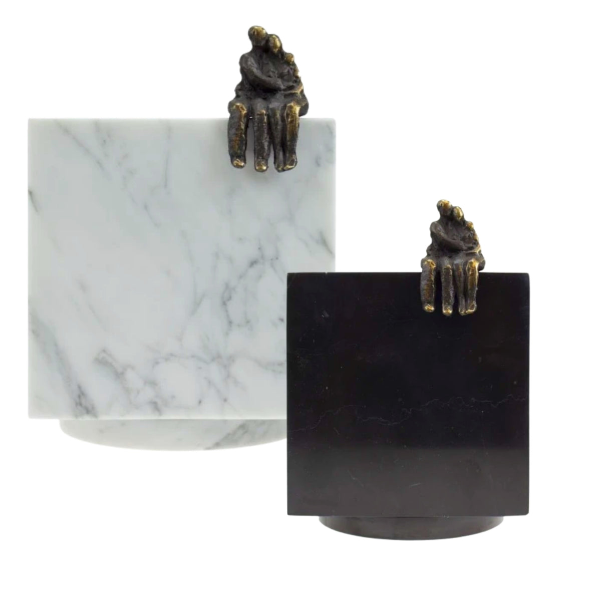 Cubos Marble with Bronze Adore Keepsake Urn