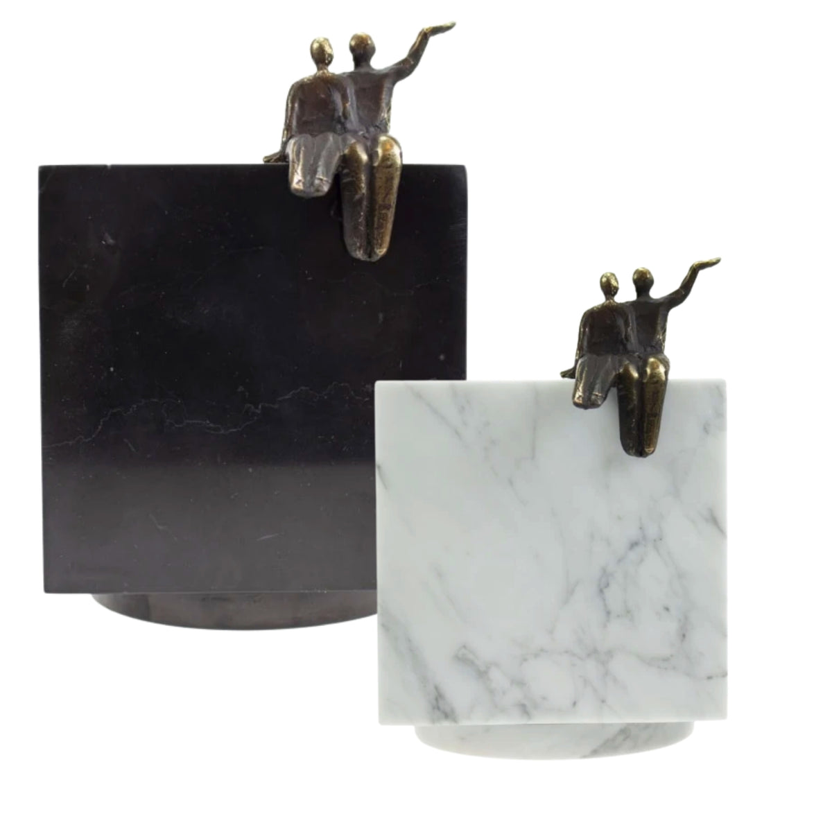 Cubos Marble with Bronze Memories Keepsake Urn