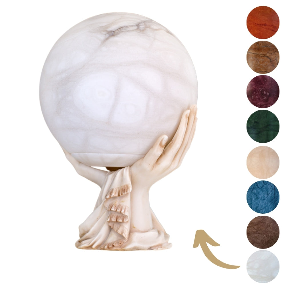 Alabaster Sedra Sphere Cremation Ashes Urn