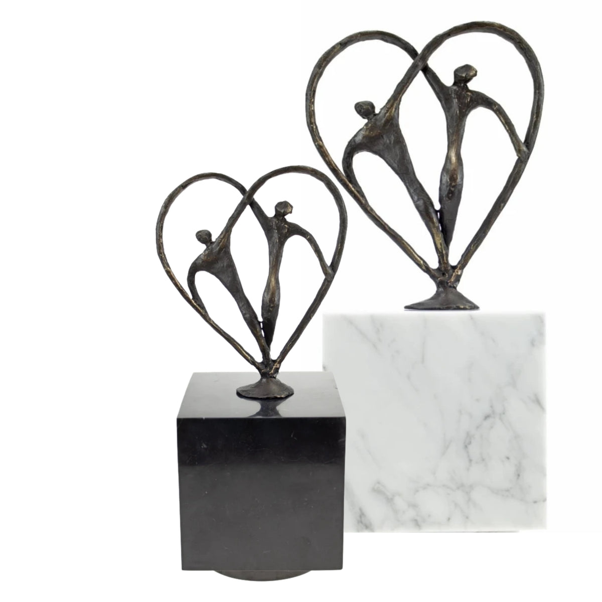 Cubos Marble with Bronze Amour Keepsake Urn