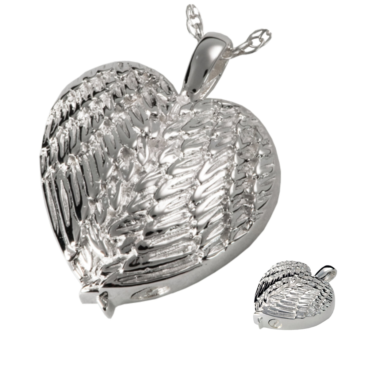 Jewellery Ash Pendant Kensington Winged Heart 925 Silver