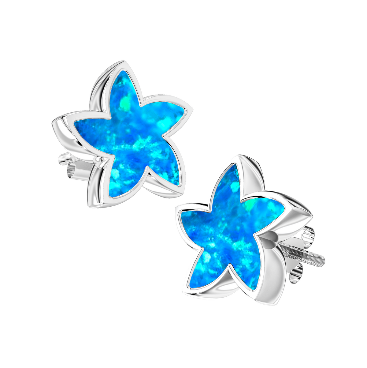 Aura-Star Ashes Infused Earrings Stars - Urns UK