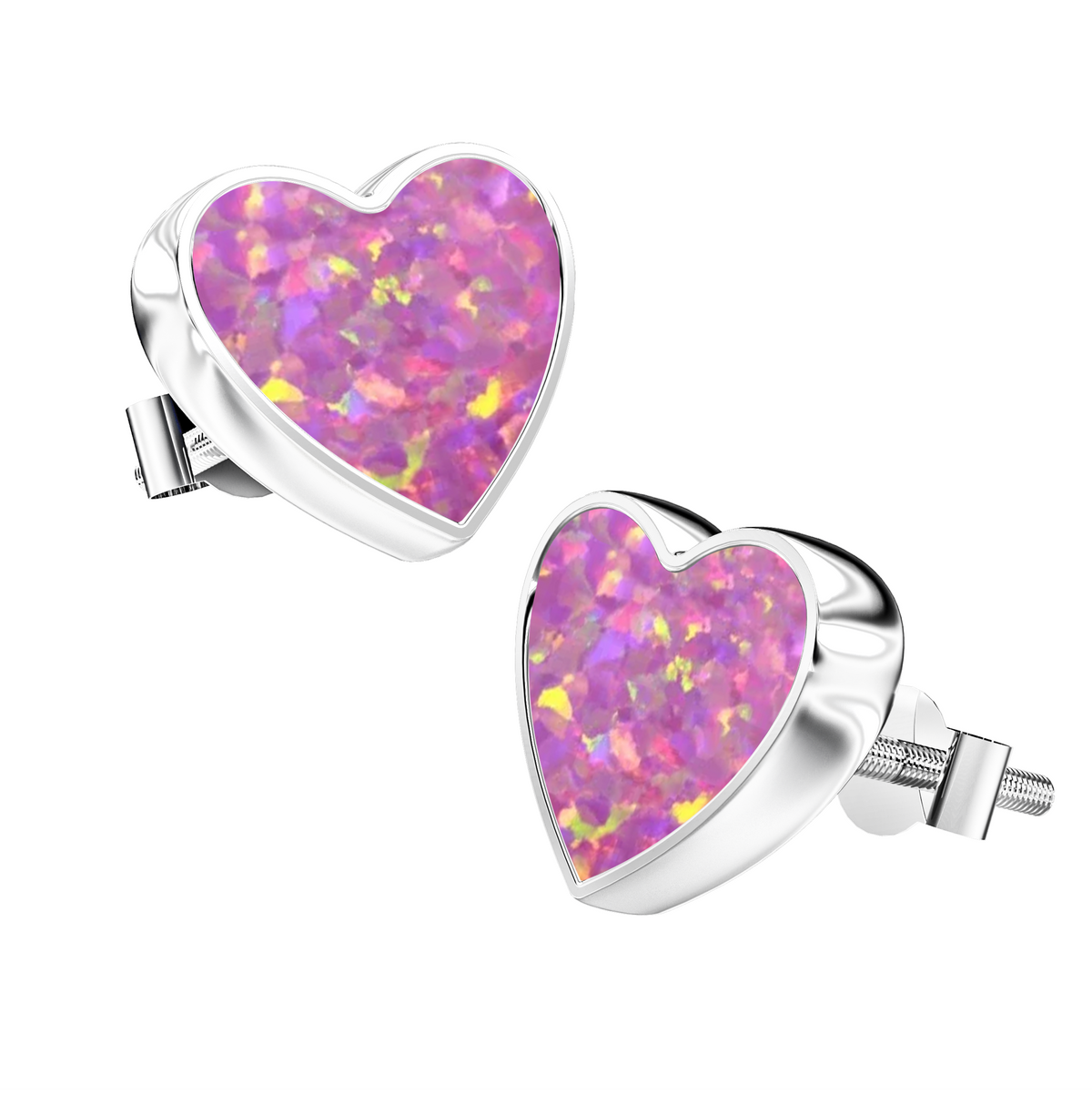 Aura-Star Ashes Infused Earrings Hearts - Urns UK