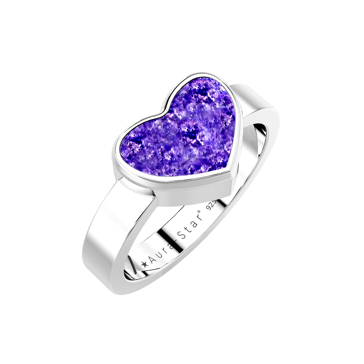 Aura-Star Ashes Infused Ring Heart - Urns UK