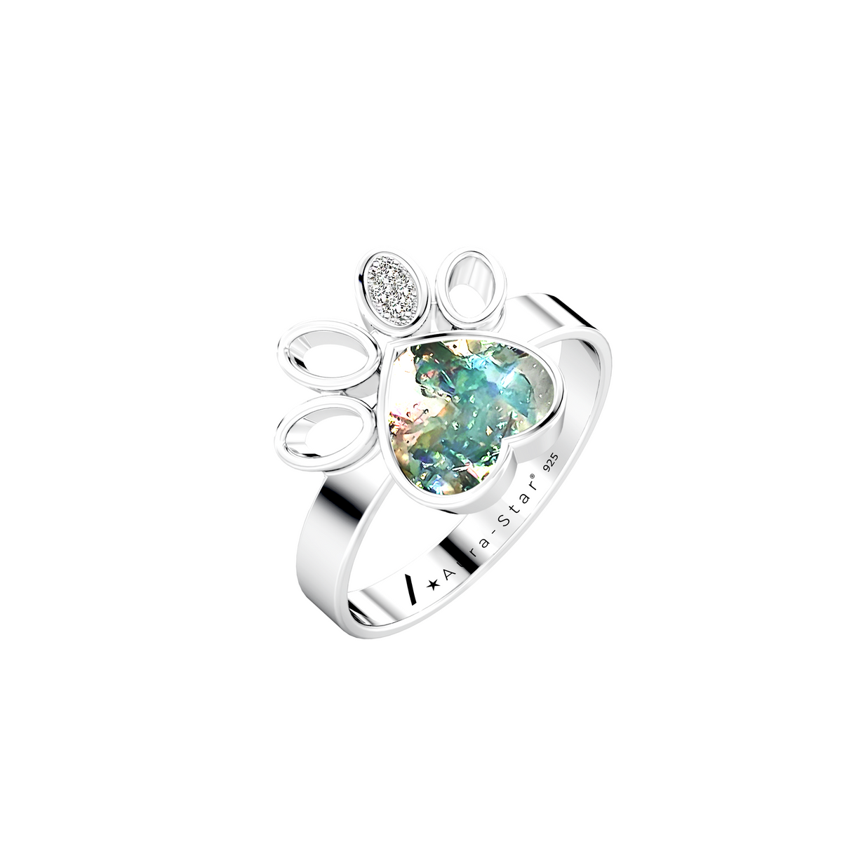 Aura-Star Ashes Infused Ring True - Urns UK