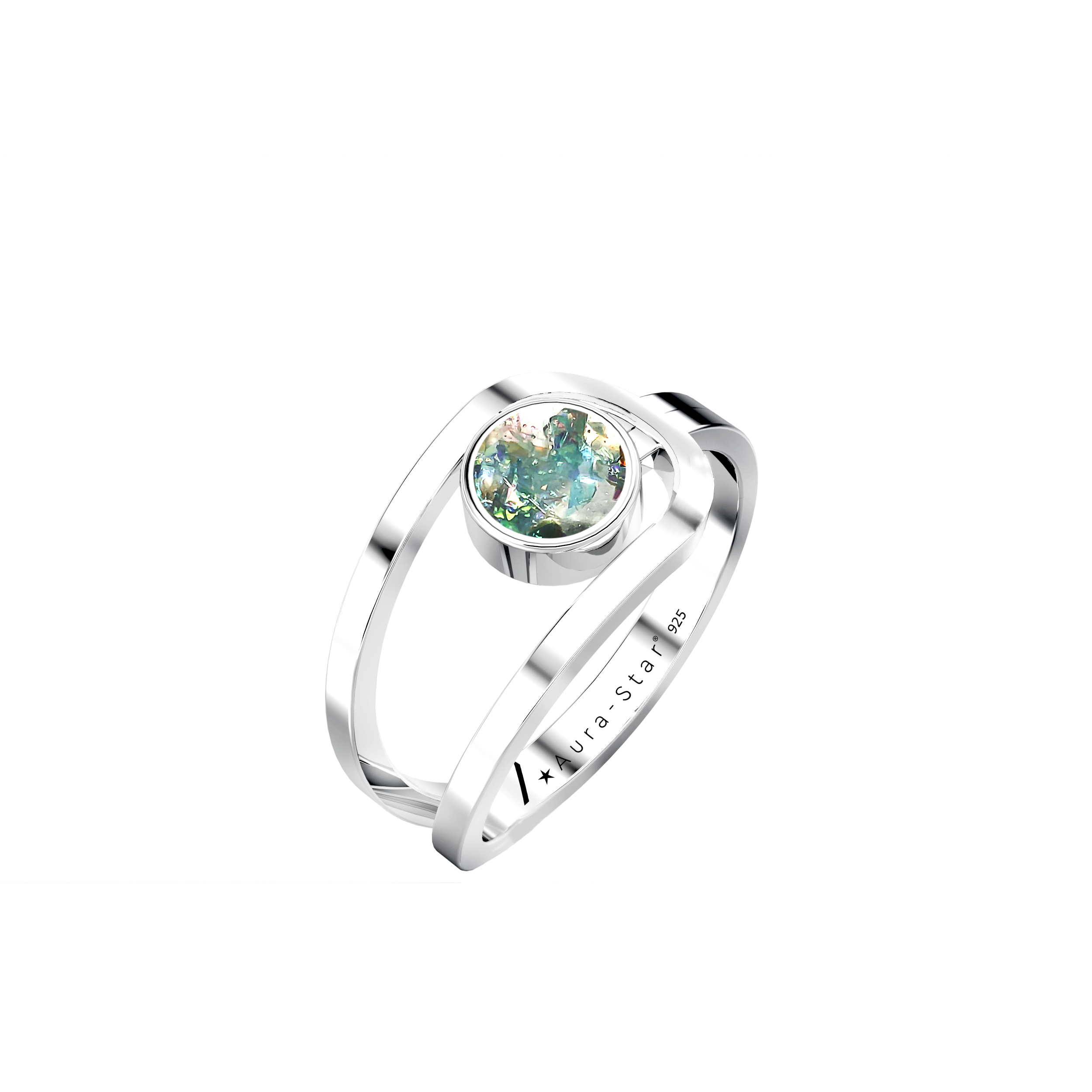 Aura-Star Ashes Infused Ring Virtue - Urns UK