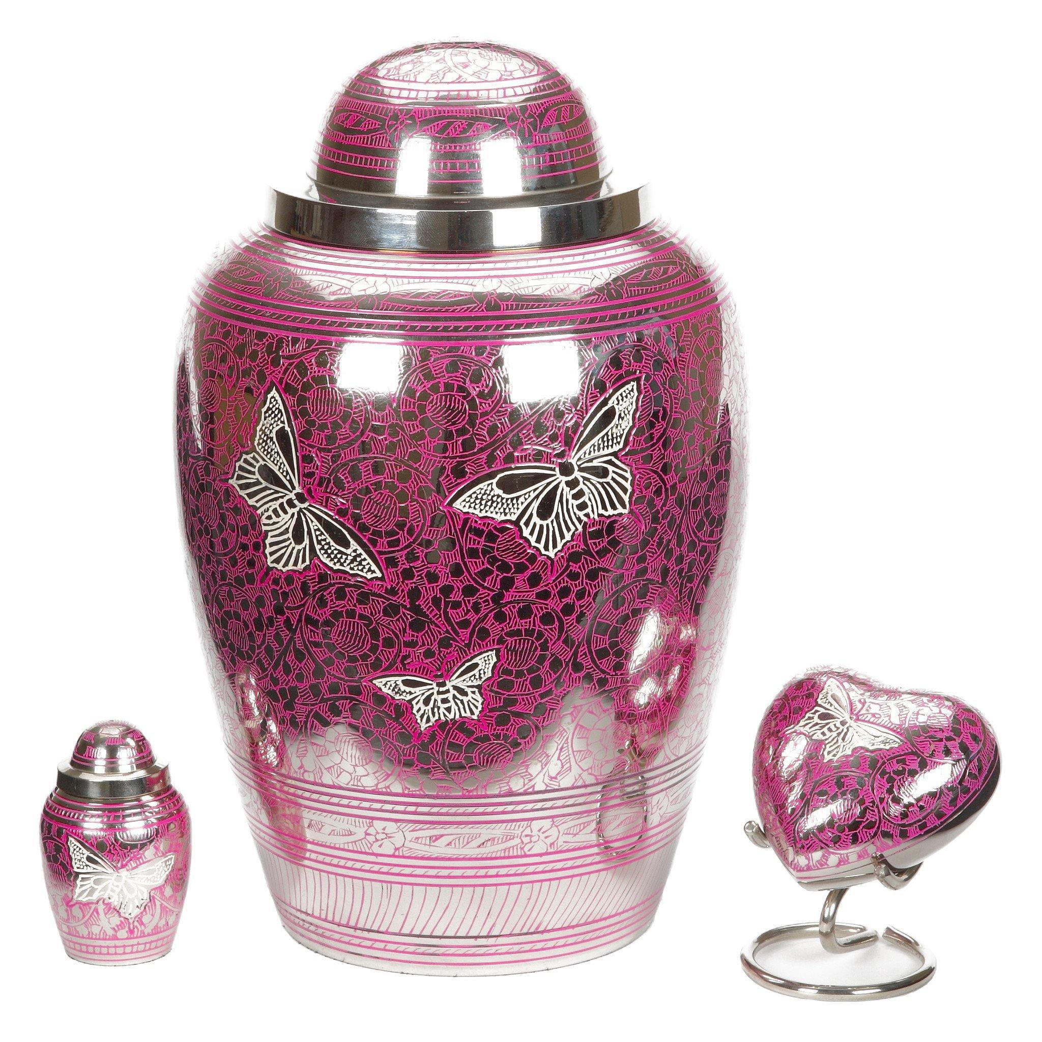 Portland Pink Cremation Ashes Urn Adult - Urns UK