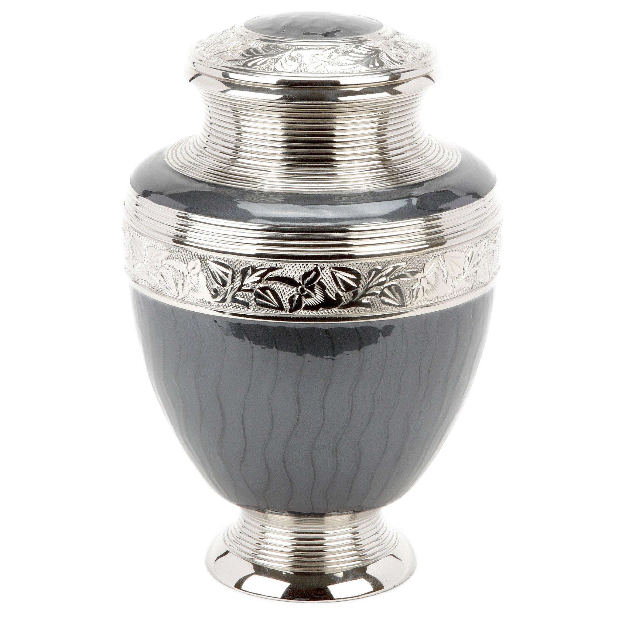 Epping Grey Cremation Ashes Urn Adult - Urns UK