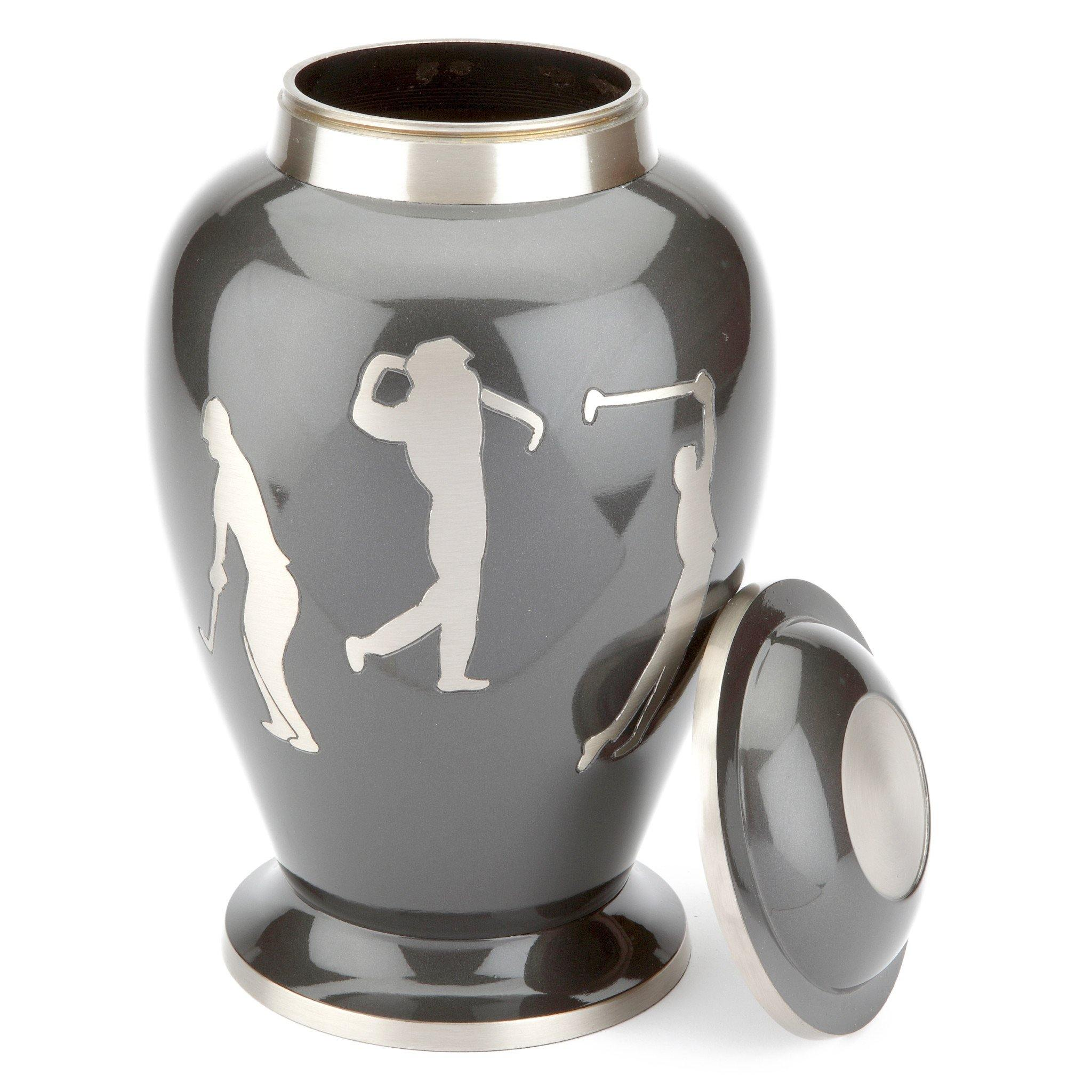 Hobby Golf Grey Cremation Ashes Urn Adult - Urns UK