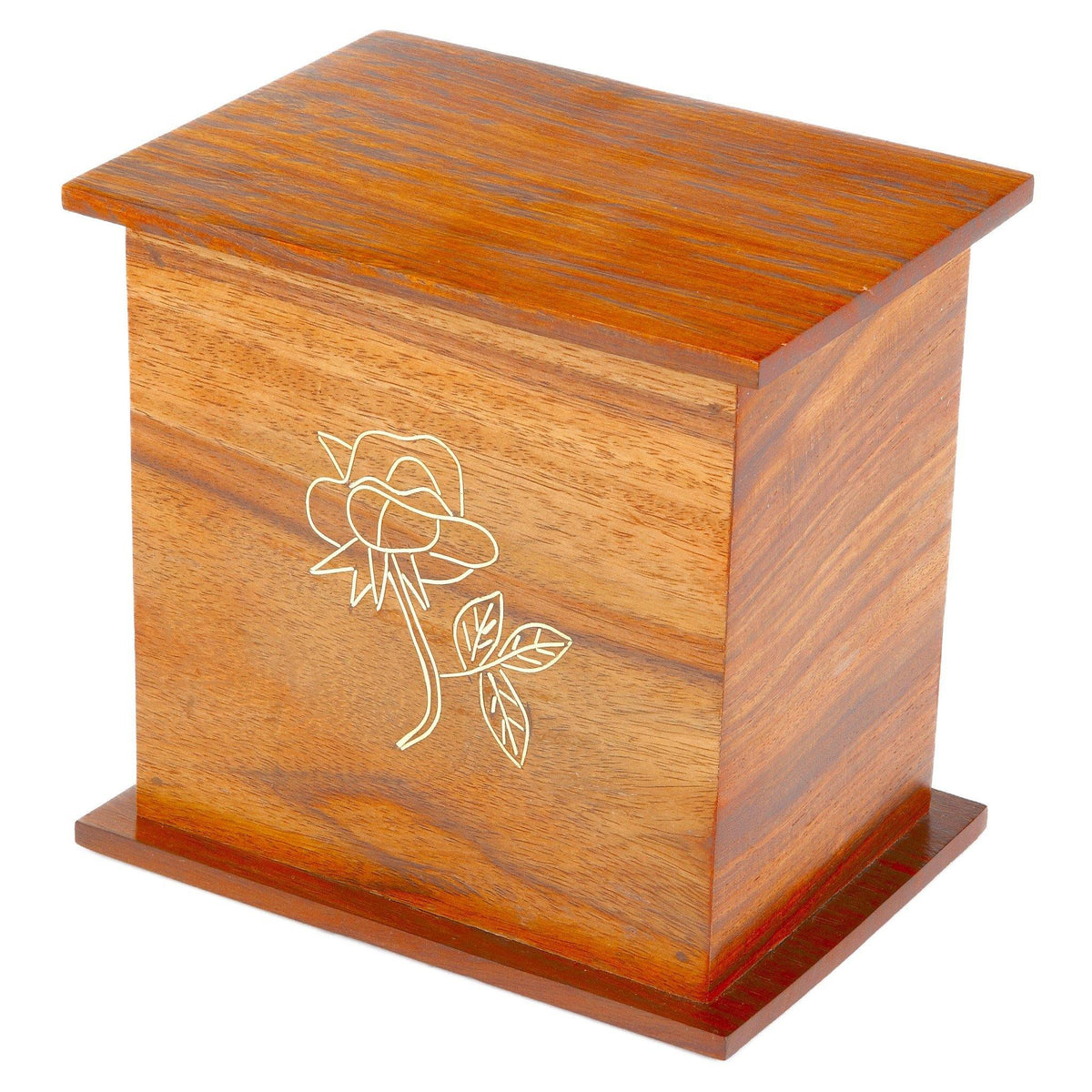 Romsey Wooden Cremation Ashes Urn - Urns UK