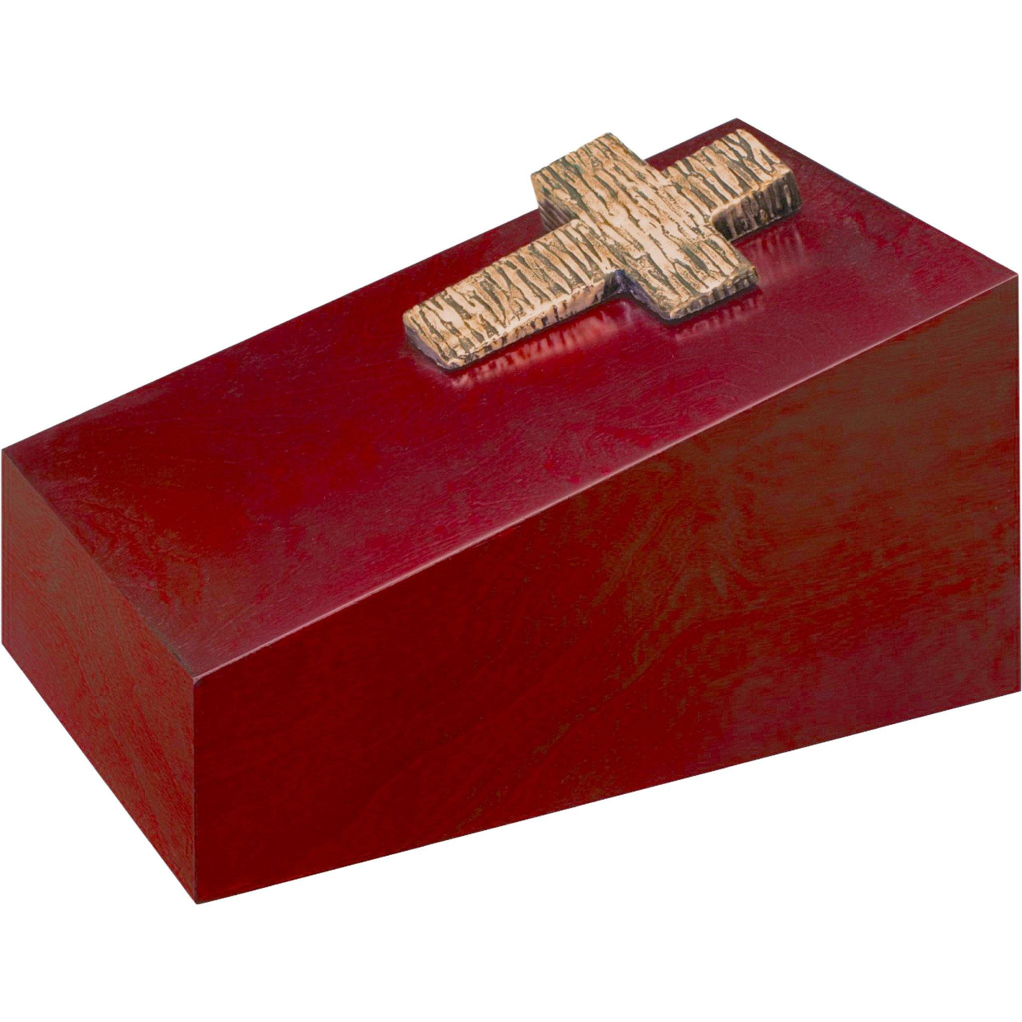 Beaminster Wooden Cremation Ashes Urn Crucifix - Urns UK