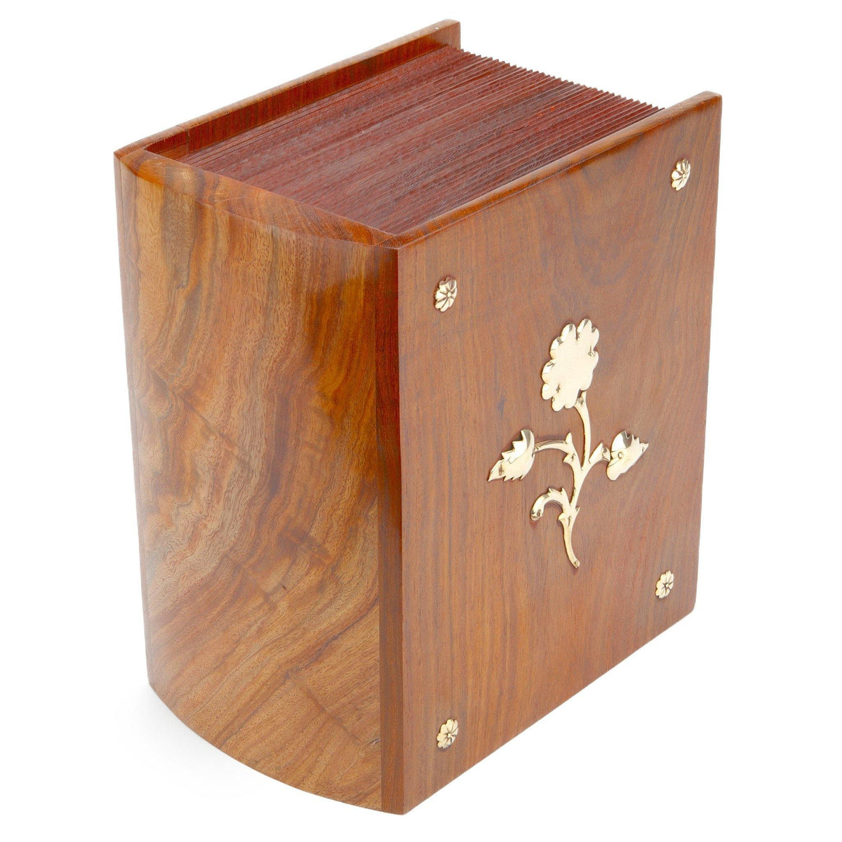 Meridan Wooden Cremation Ashes Urn 250CI - Urns UK