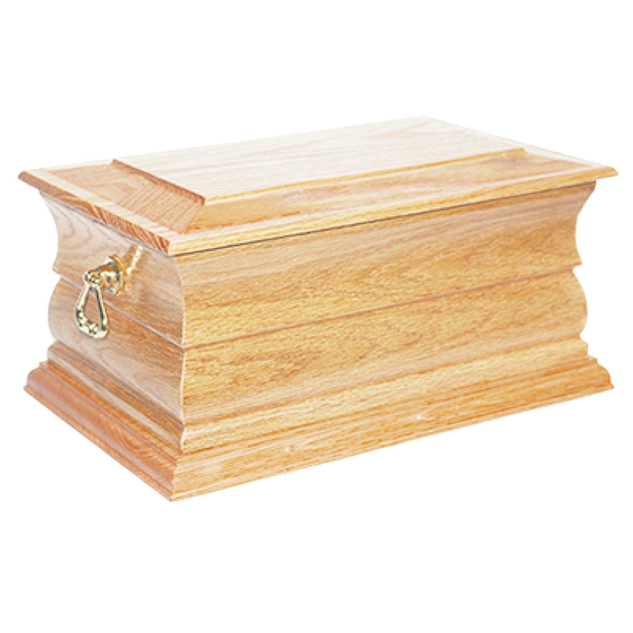 Newquay Solid Oak Cremation Ashes Casket - Urns UK