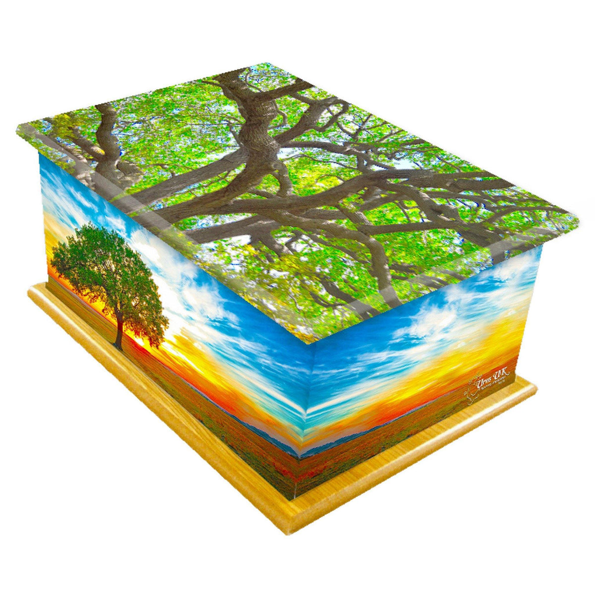 Lyndhurst Tree Of Life Wooden Cremation Ashes Urn Adult - Urns UK